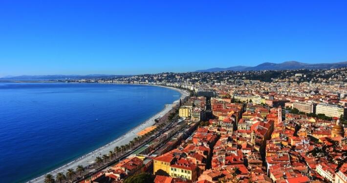 Cote d'Azur landschap vakantie