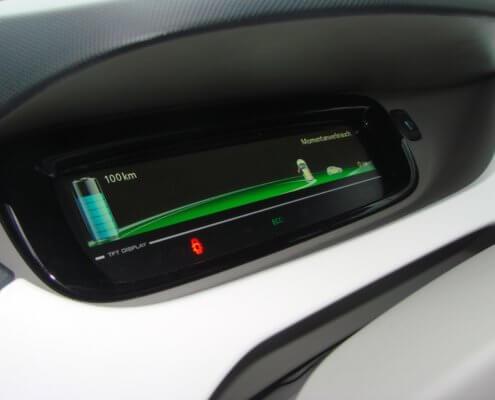 Dashboard elektrische auto