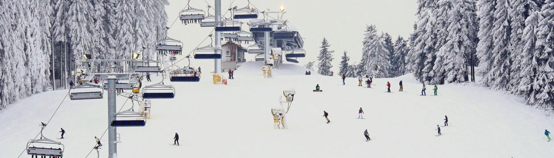 Ski piste Winterberg Duitsland