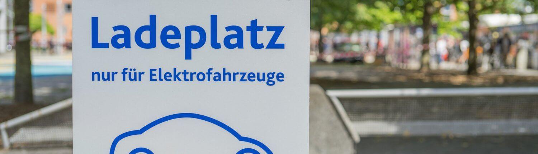 Elektrisch laadplaats bord Duits