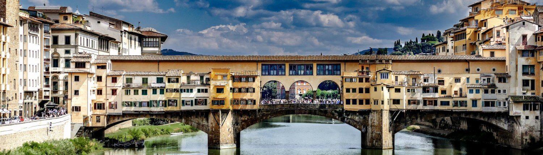 Italië rivier landschap brug