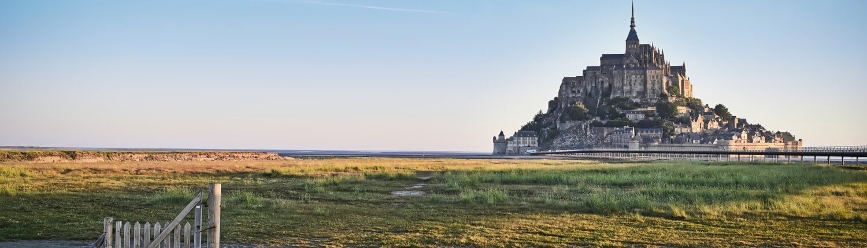 Normandië Frankrijk Mont-saint-Michel uitzicht