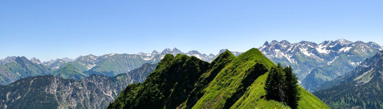 Oostenrijk Allgau bergtoppen uitzicht