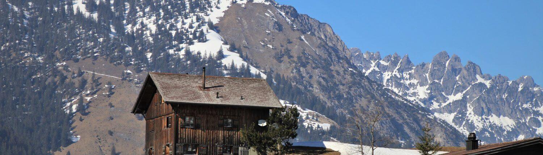 Zwitserland berghuis uitzicht