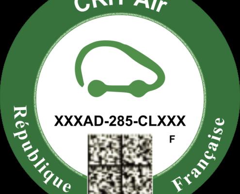 Groene milieusticker Frankrijk voor elektrische auto's