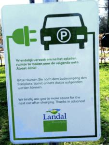 Landal vakantiepark laadpaal informatie
