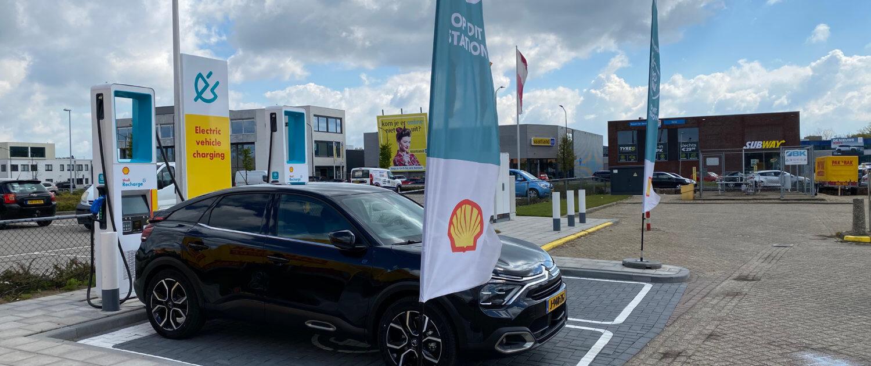 Snellaadstation Shell Recharge (NewMotion) Bakker en Ruebweg Breda