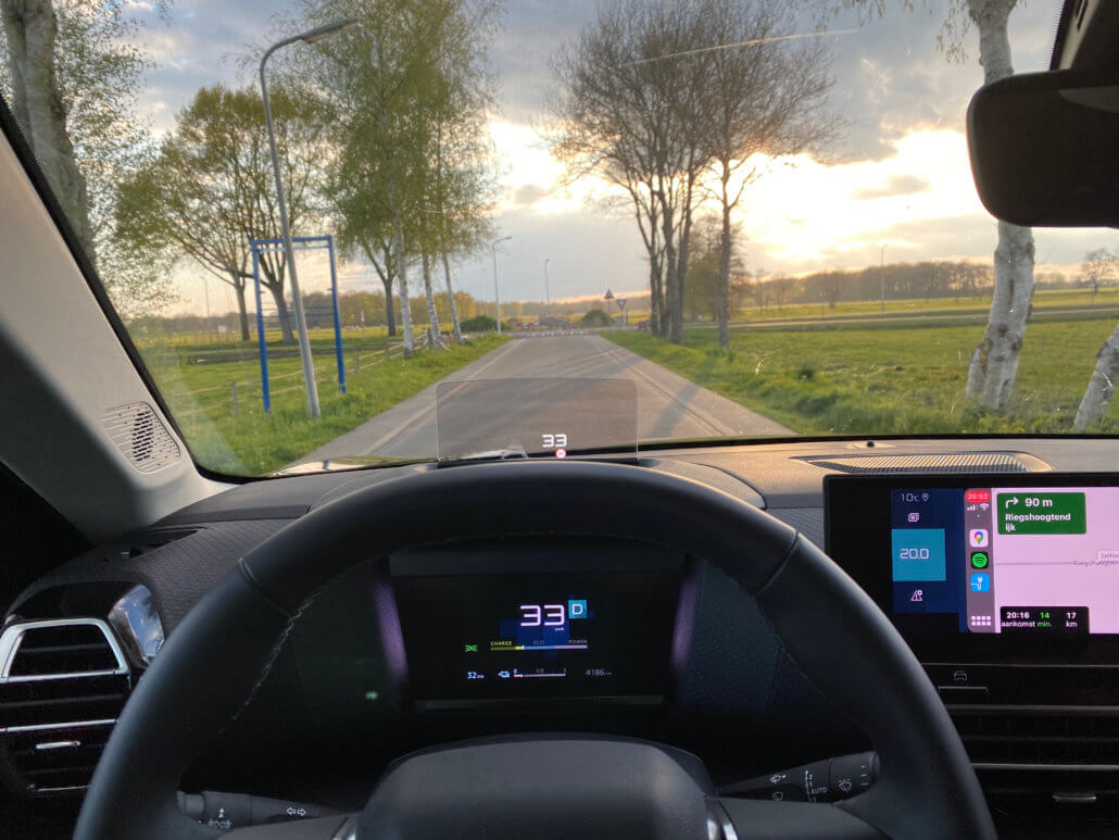 Google Maps via Apple CarPlay in elektrische auto Citroën ë-C4