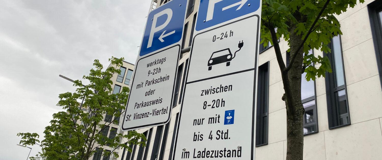 Parkeerschijf bij publieke laadpaal München noodzakelijk