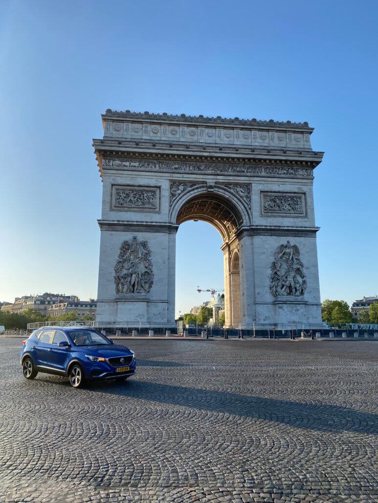 Weekend met de elektrische auto naar Parijs