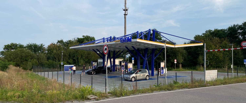 EnBW snellaadstation Rutesheim langs A8 tussen Stuttgart - Karlsruhe