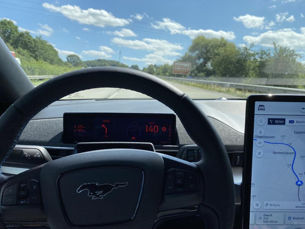 Navigatie en scherm van de Mustang Mach-E
