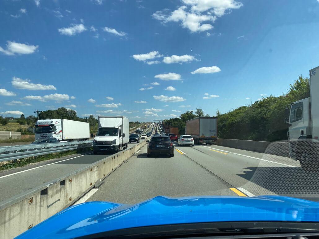 Wegwerkzaamheden Duitse snelwegen onderweg naar Zwitserland