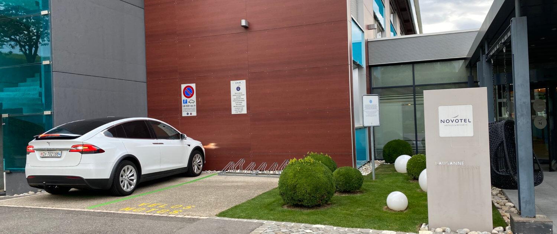 Foto van laadpunt bij Novotel Lausanne Bussigny op Chargemap