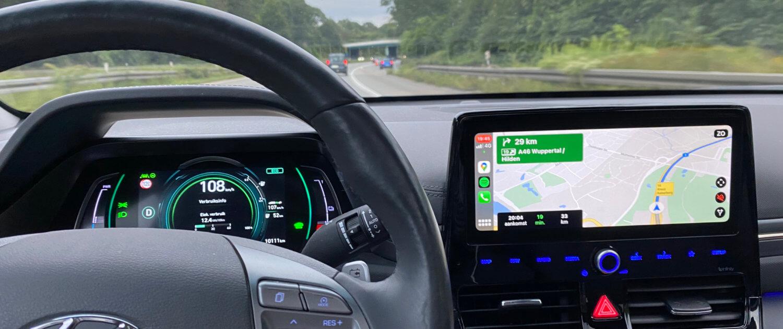 Hyundai IONIQ Electric Google Maps Apple CarPlay navigatie