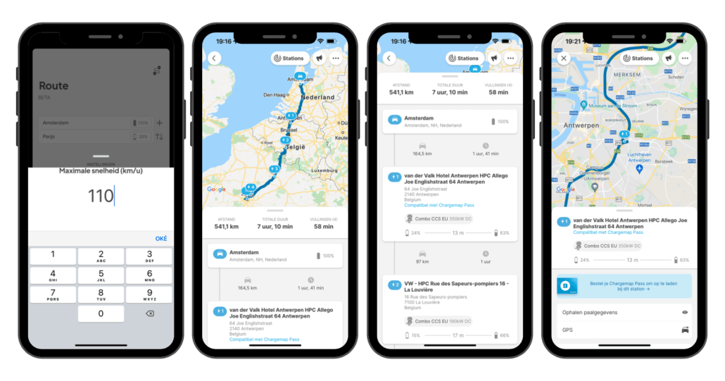 Chargemap Routeplanner App Stap 9 t:m 12