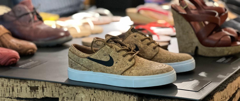 Nike schoenen en andere schoenen gemaakt van kurk