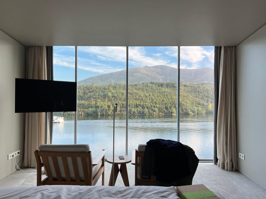 Het uitzicht vanuit de hotelkamer van Douro41 Hotel & Spa op de Douro