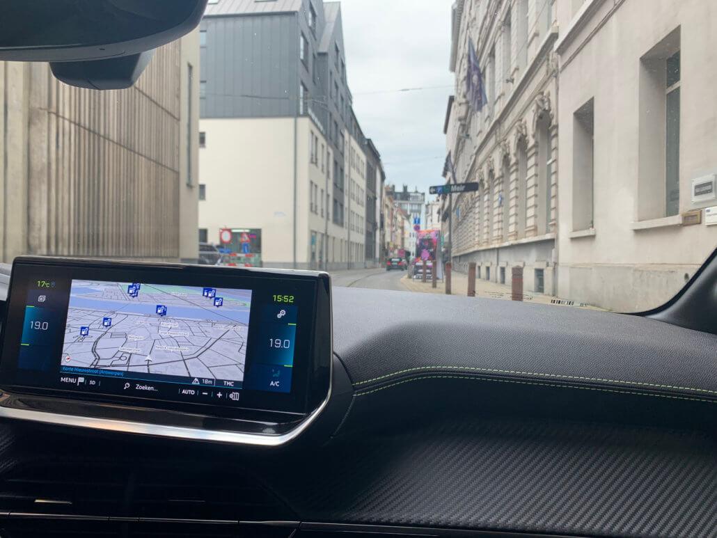Parkeergarage Meir Antwerpen met laadpaal