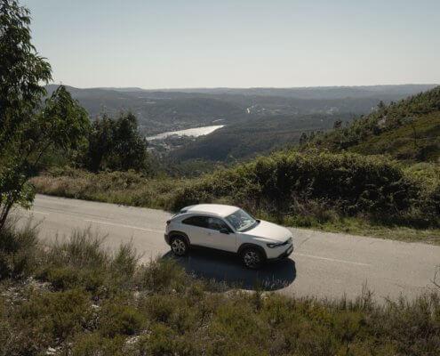 Met een elektrische auto rijden in Portugal